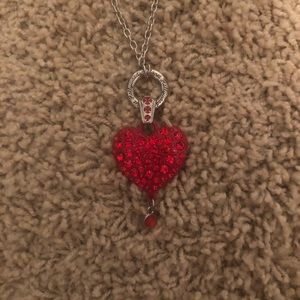 Planet Hollywood  Red heart necklace